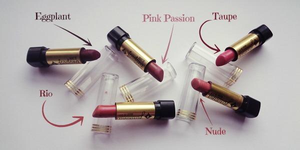Jordana matte κραγιόν + swatches (Jordana lipsticks review)