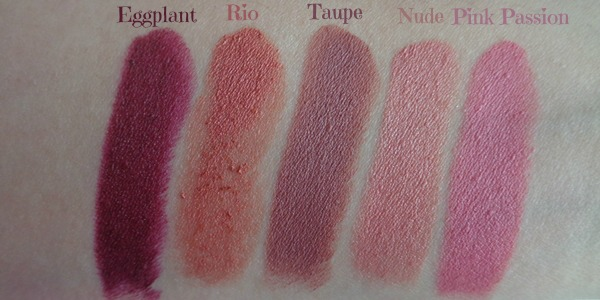 Jordana matte κραγιόν swatches (Jordana lipsticks review)