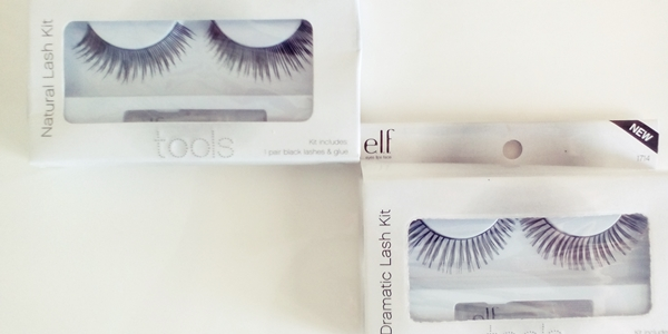 E.L.F. Cosmetics, Natural Lash Kit, Black, 1 Pair Black Lashes & Glue και E.L.F. Cosmetics, Dramatic Lash Kit, 1 Pair Lashes & Glue