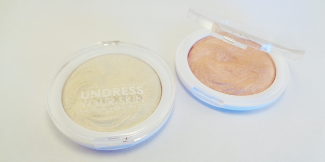 MUA Undress your skin shimmer highlighters (gold & pink)
