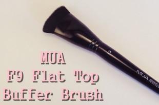 MUA F9 Flat Top Buffer Brush (a.k.a. Πινέλο για κοψίματα!)
