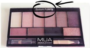MUA Elysium παλέτα σκιών κριτική (review + swatches)