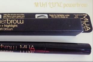 MUA Luxe Power Brow - Μολύβι φρυδιών (shape + highlight)
