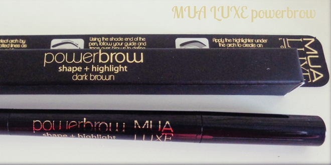 MUA Luxe Power Brow - Μολύβι φρυδιών (shape + highlight)