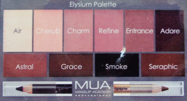 MUA Elysium παλέτα σκιών κριτική (review + swatches)