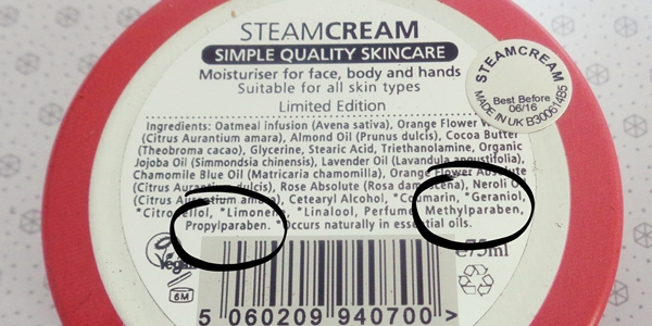 Glowbox Ιανουαρίου 2015 - steam cream ingredients