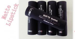 Lovie Matte lipsticks + swatches - Ματ κραγιόν της Lovie