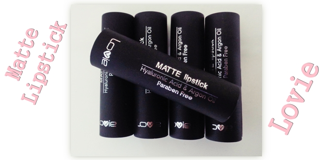 Lovie Matte lipsticks + swatches - Ματ κραγιόν της Lovie