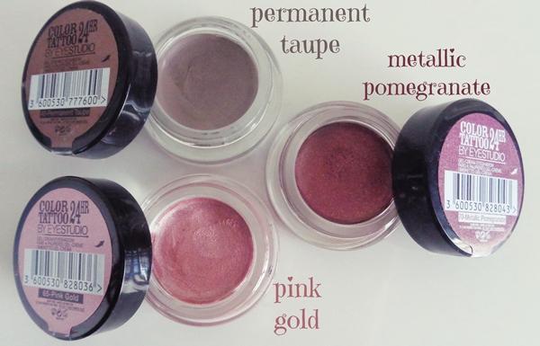 Maybelline Color Tatoos 24HR review - Κρεμώδεις σκιές ματιών