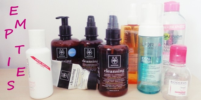 Empties - Άδεια προϊόντα καθαρισμού για το πρόσωπο