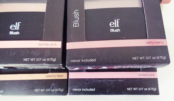 E.L.F. Cosmetics, Blush, Twinkle Pink, Tickled Pink, Peachy Keen & Berry Merry (4.75 g)