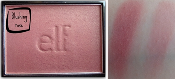 elf blush blushing rose swatch
