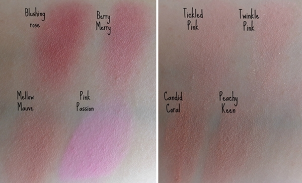 E.l.f. studio line swatches (e.l.f. blushes swatches)