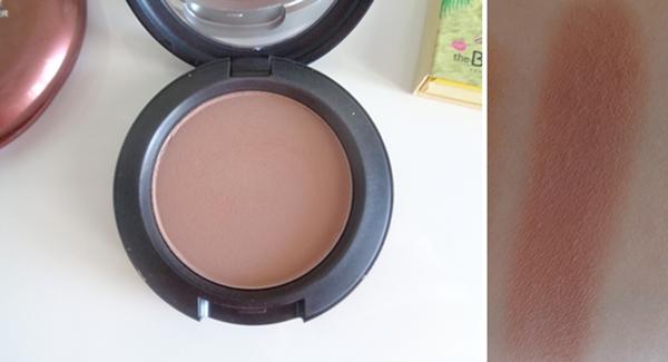 MAC powder blush HARMONY swatch