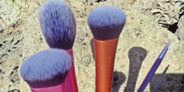 Real Techniques by Samantha Chapman, Sculpting Brush, Expert Face Brush, Your Finish/Perfected Blush Brush, Silicone Liner Brush