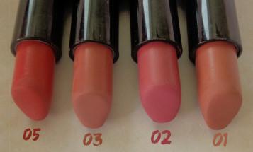 golden rose lipsticks 1 2 3 5
