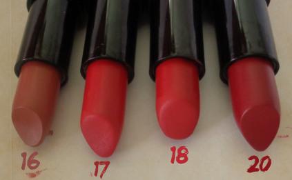golden rose lipsticks 16 17 18 20