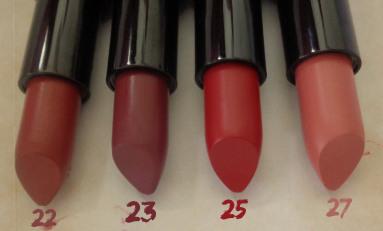 golden rose lipsticks 22 23 25 27