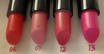 golden rose lipsticks swatches 6 7 12 13
