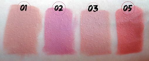 golden rose lipsticks swatches 1 2 3 5