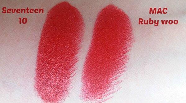 Seventeen Matte Lasting Lipstick - Ματ Κραγιόν της Seventeen ruby woo