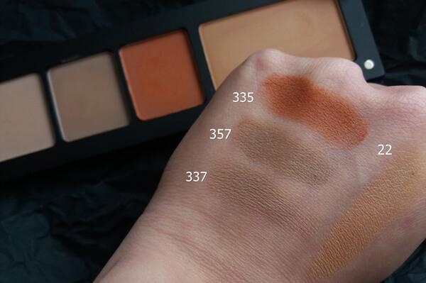 inglot haul freedom system σκιές 335, 337 357 ρουζ 22 swatches
