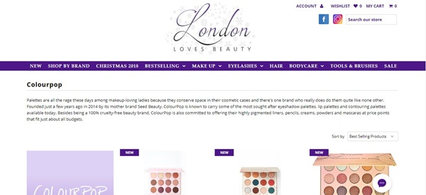 colourpop in london loves beauty